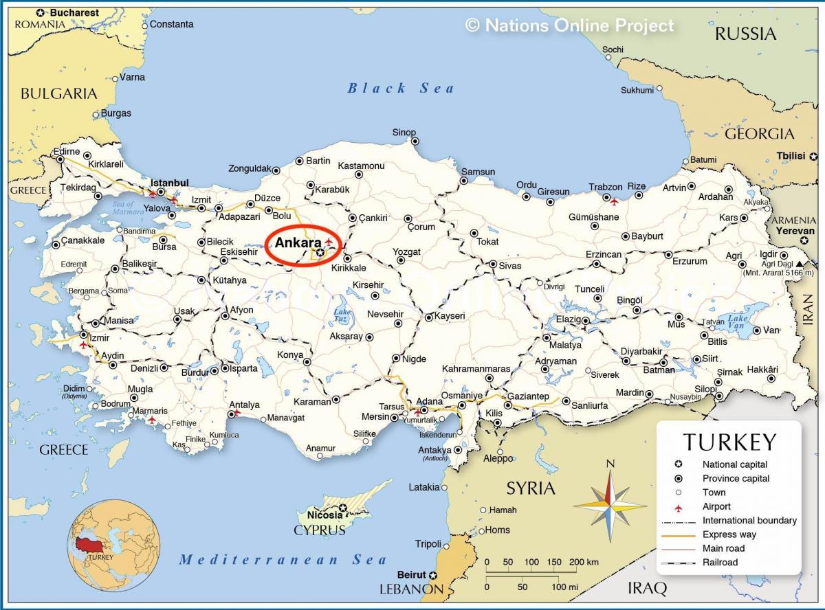 Karta Europa Turkiet.Huvudstaden I Turkiet Karta Karta Over Turkiet Kapital Vastra