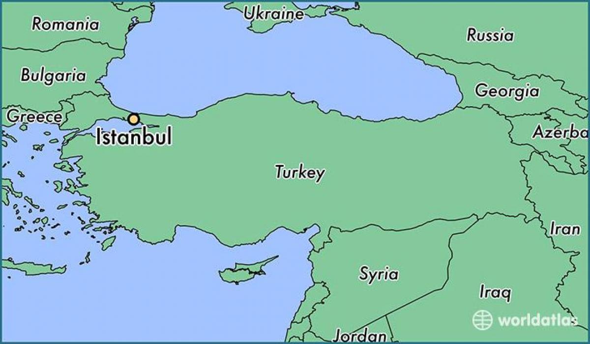 Turkiet Karta I Varlden Karta Turkiet Karta World Atlas Vastra