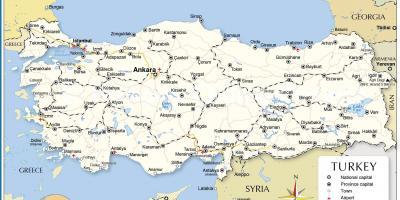 karta över turkiet Karta över Turkiet och omgivande länder   Turkiet, ett land karta  karta över turkiet