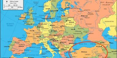 Karta Europa Turkiet.Turkiet Karta Europa Karta Over Turkiet Europa Vastra Asien Asien